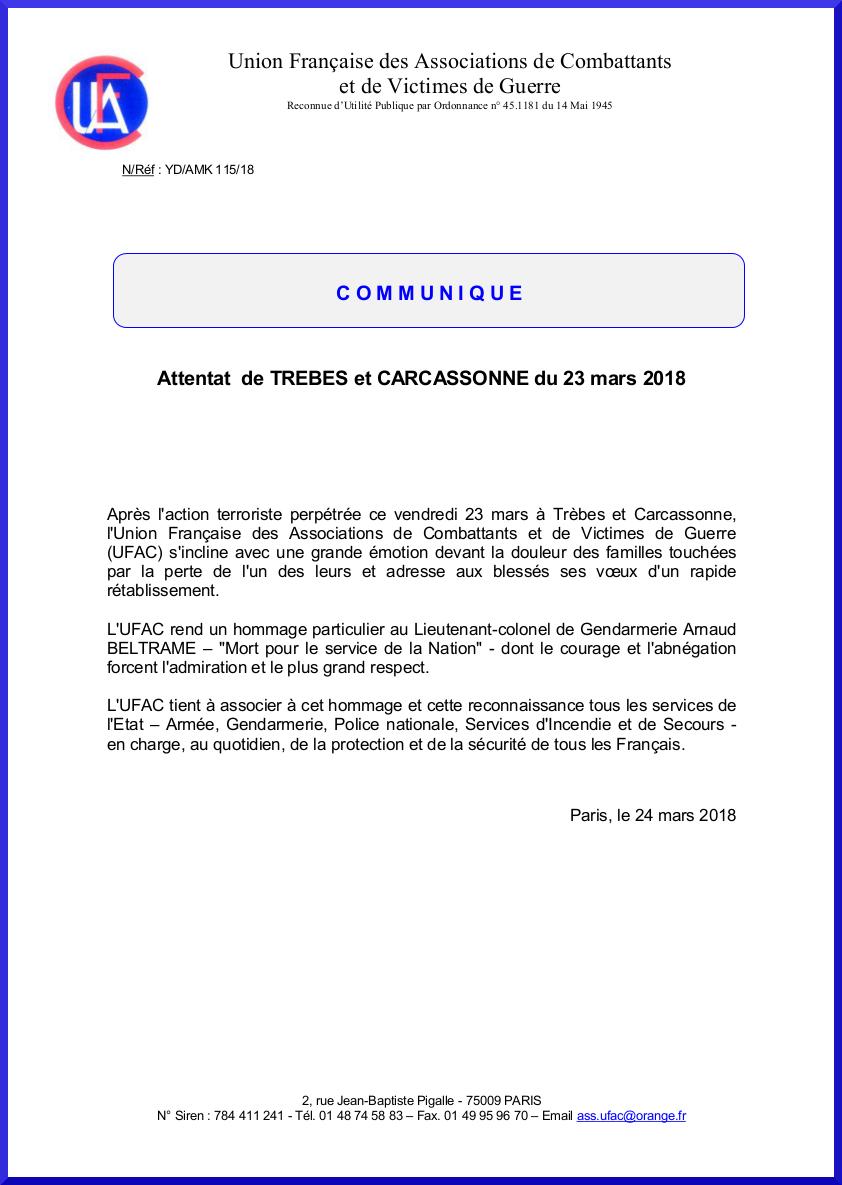 Attentat Trebes et Carcassonne 23 03 18