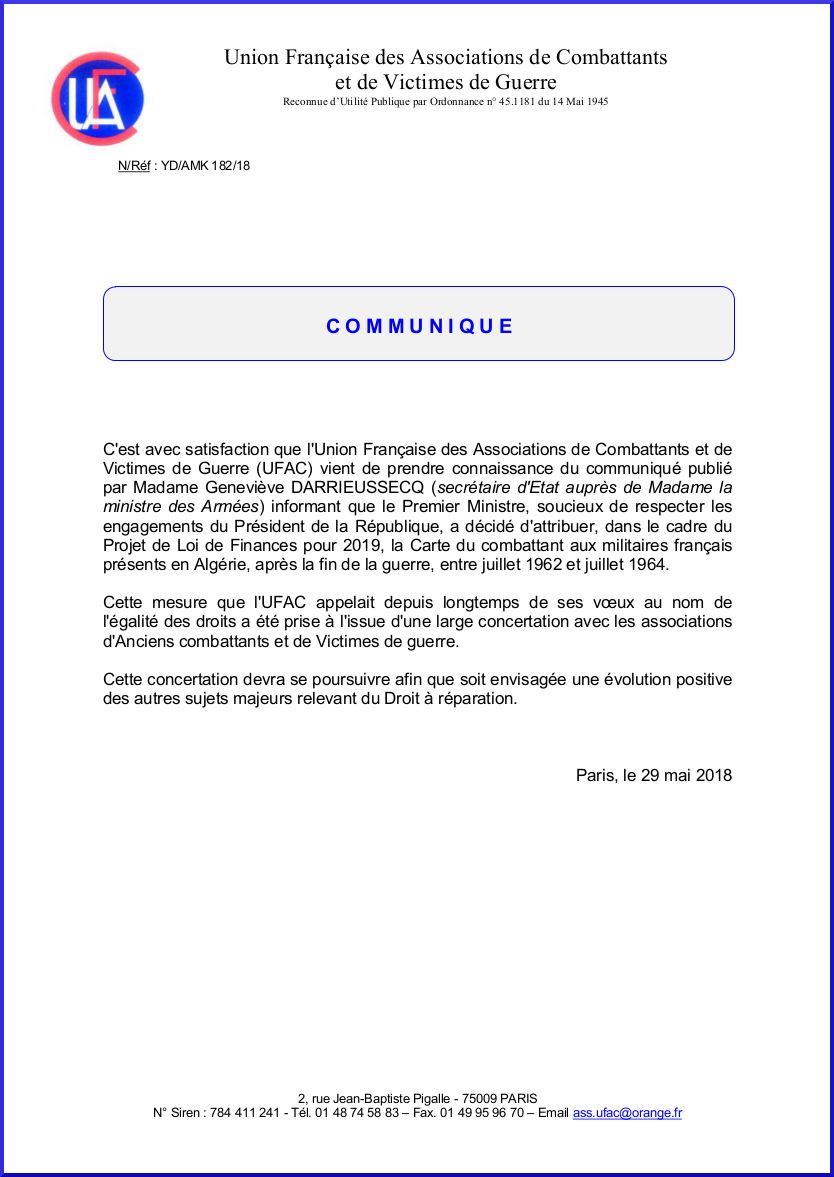 Attribution carte combattant 62 64