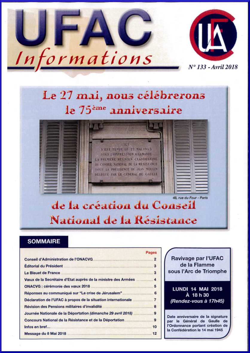 Couverture ufac infos 133