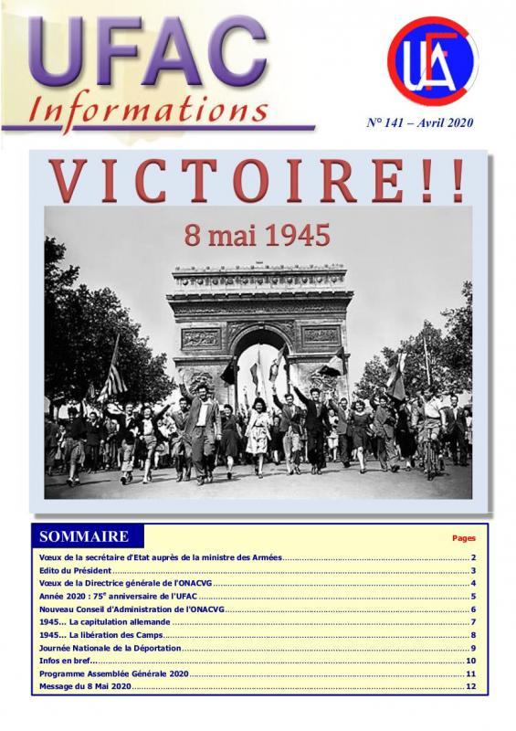 Ufac infos 141 page de couverture